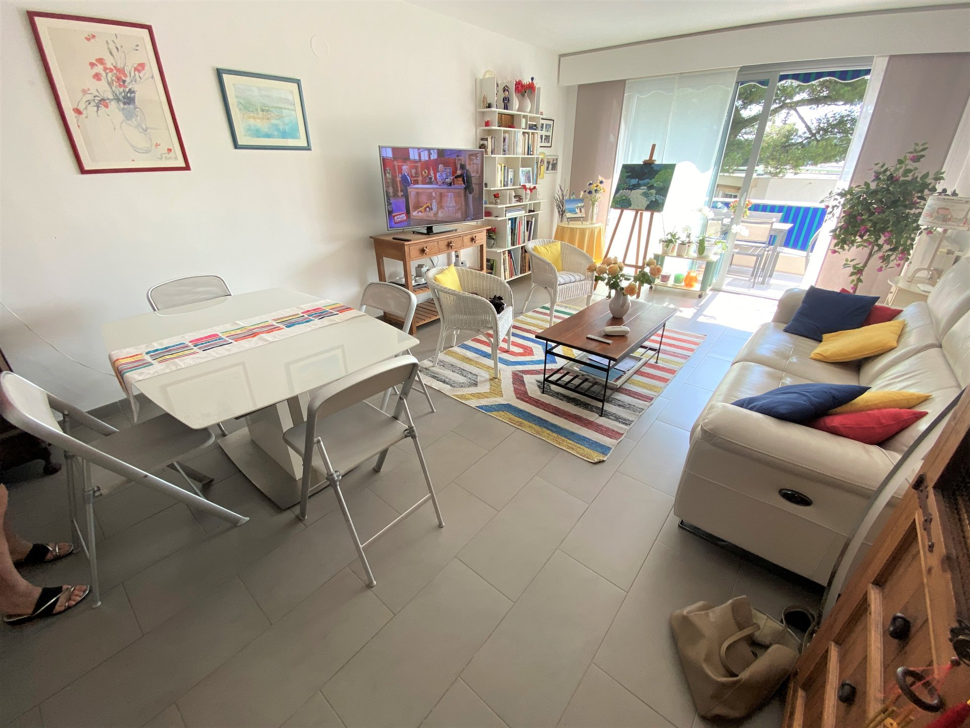 LE CANNET SALE 3 ROOMS IN LAST FLOOR IN ABSOLUTE CALM