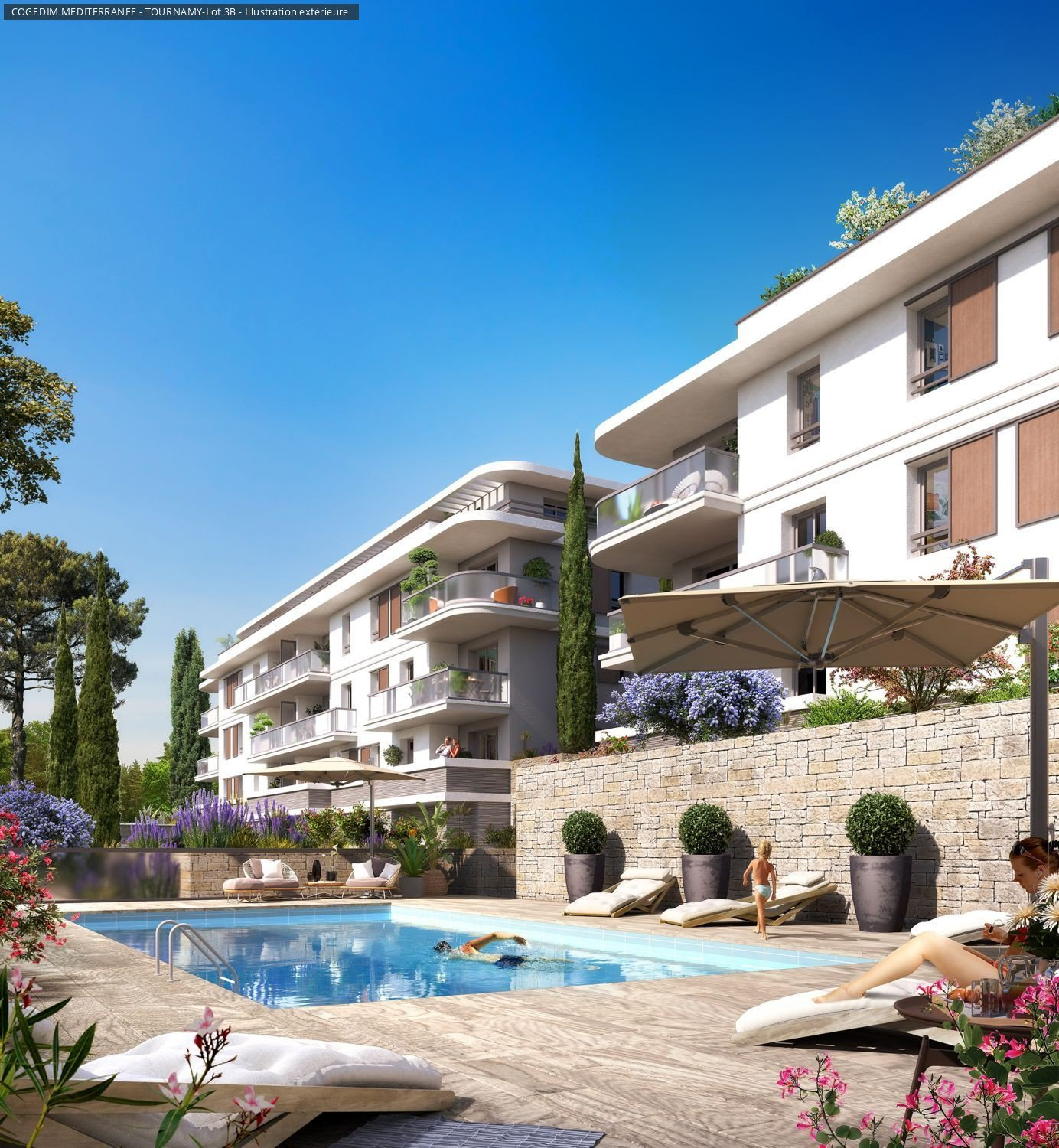 Residens i centrala Mougins 15 min from Cannes