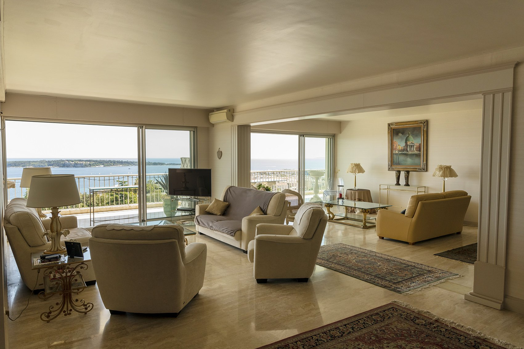 CALIFORNIE AV. ROI ALBERT 7P 230M² + 52M² Ter. 180° SEA VIEW