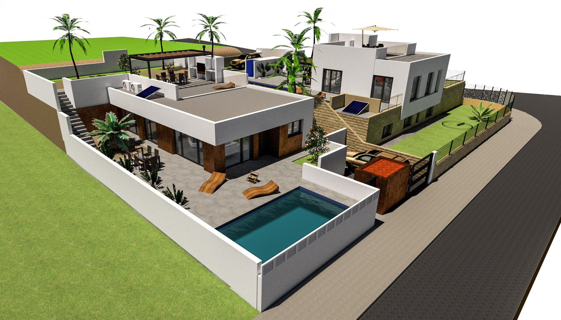 Nieuwbouw met zwembad in Polop