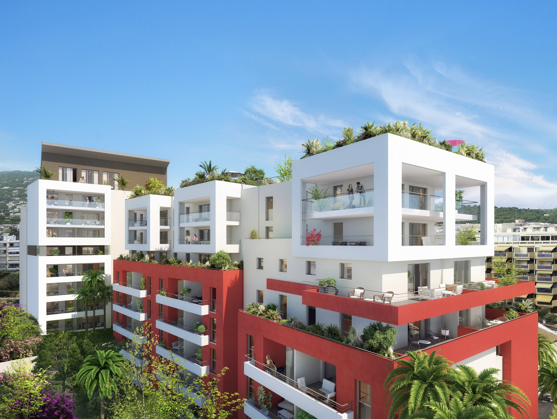 ROQUEBRUNE CAP MARTIN - Top floor - luxury 2 bed Apartment - near beaches