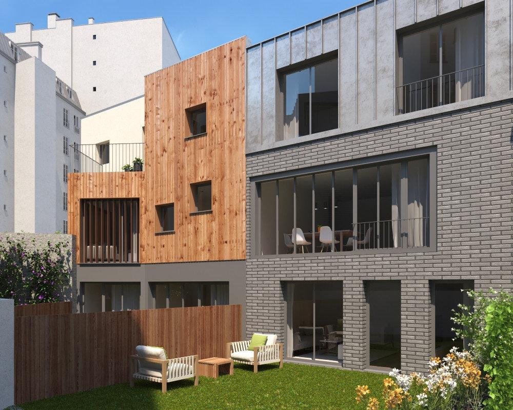 BUTTES CHAUMONT Paris 19e, maison ensoleillée avec jardin au calme