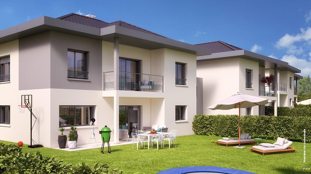 V597 CHARVONNEX maison jummelée de 155 m2