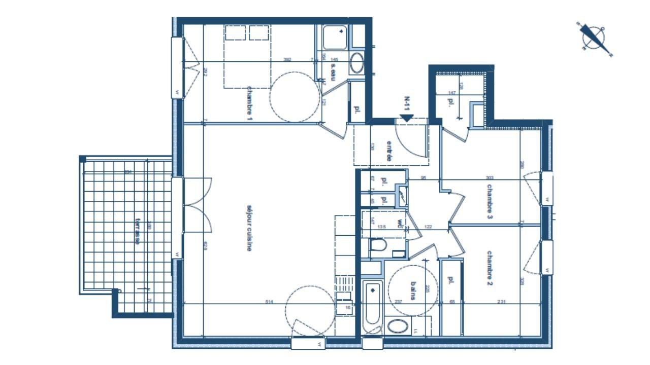 METZ-TESSY - Appartement Neuf 4 pièces 81 m² - Livraison 2018