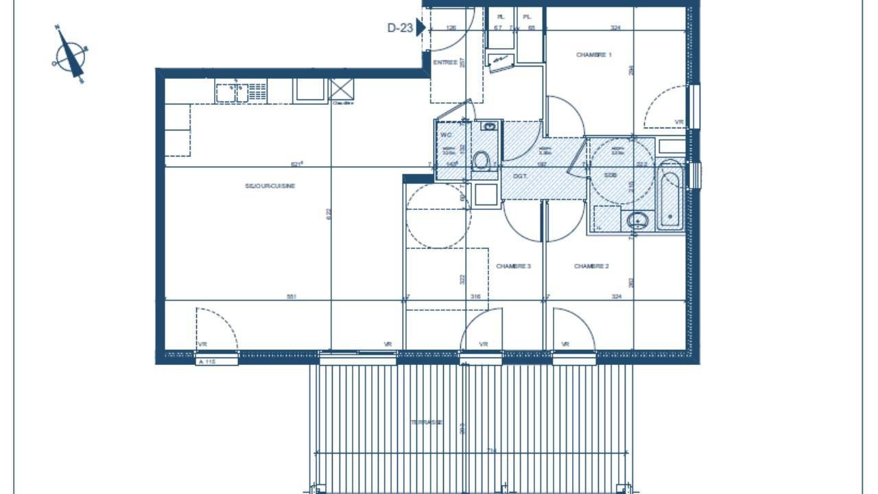 N 685 TN - Appartement T4 de 80 m2- Vieux Seynod