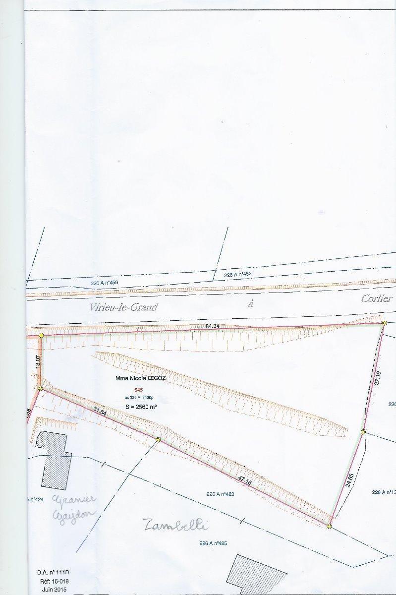 Belmont Luthezieu - Terrain constructible 2 560 m²
