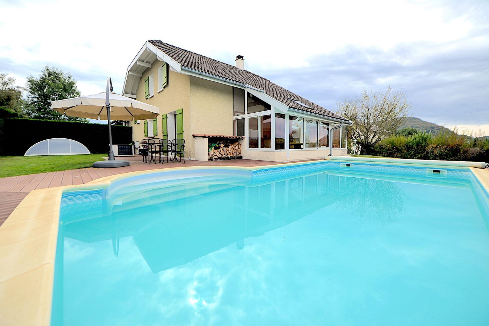 V906- Villy-le-Pelloux, maison sur 650m2 de terrain avec piscine
