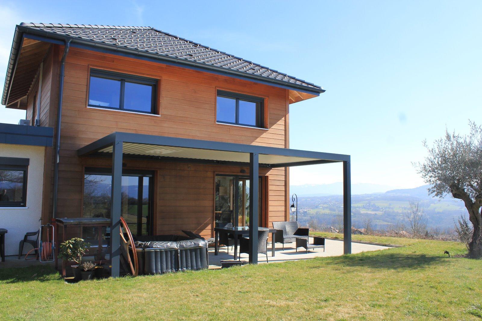 Proximité Copponex, villa ossature bois de type 5, de 110 m²