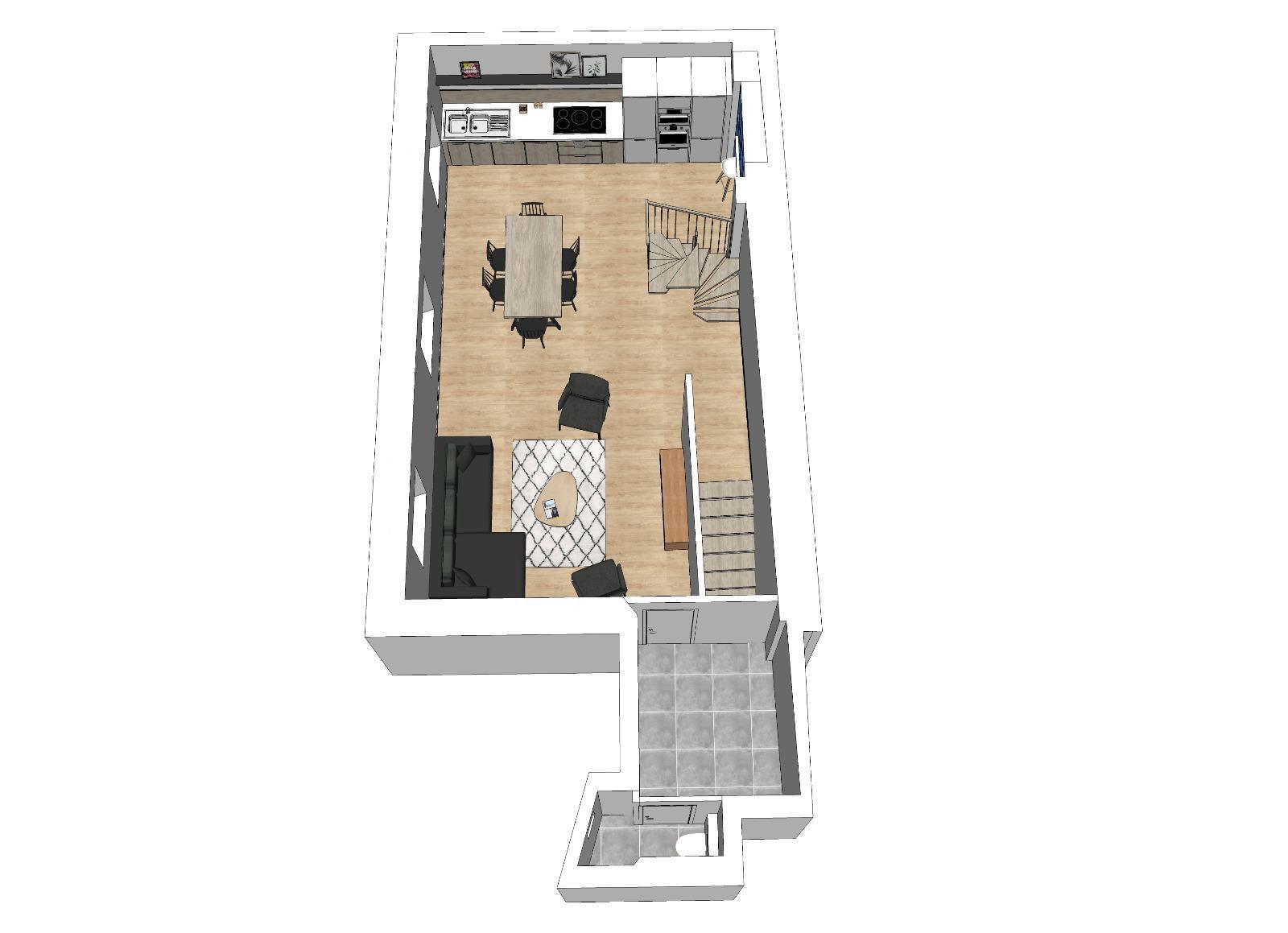 Annecy centre-ville, T4 Duplex plein centre, frais de notaire réduits