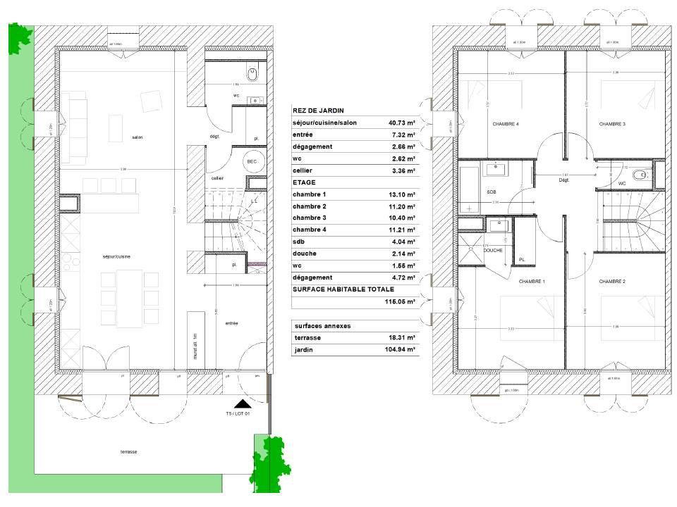 Appartement Duplex 5 pièces de 115 m²
