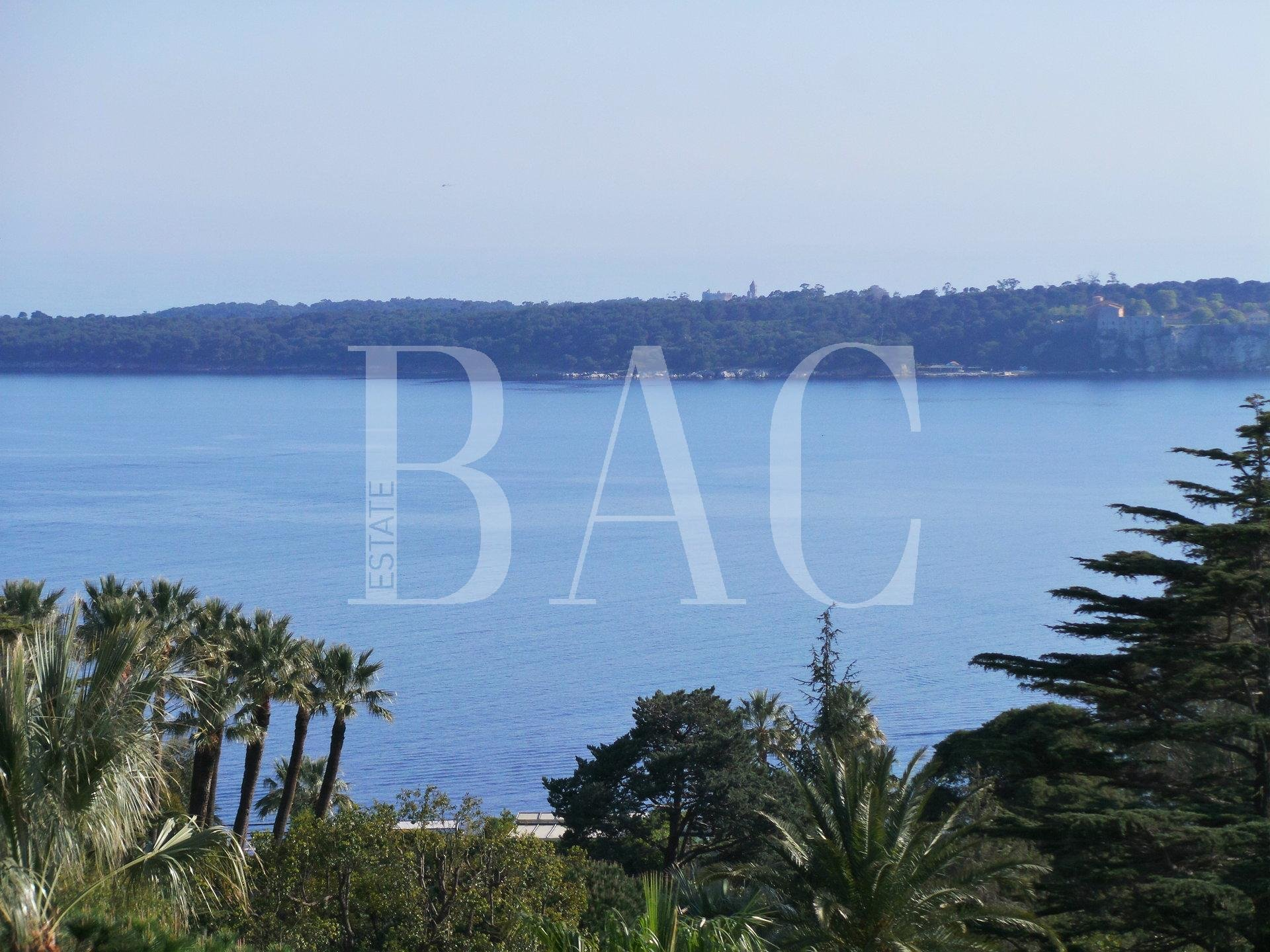 Cannes, Avenue du Roi Albert and with panoramic sea view