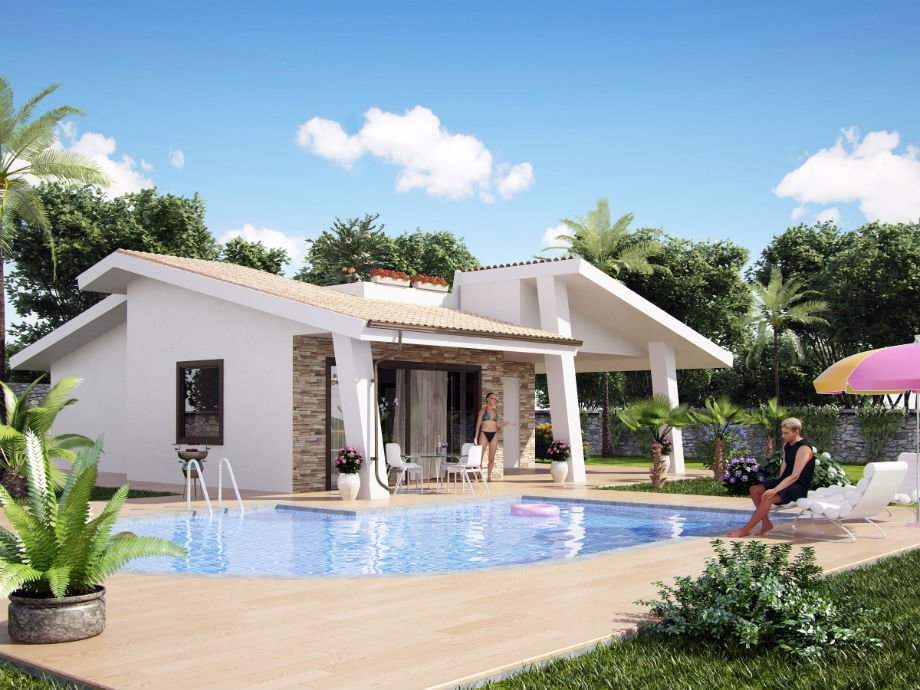 New development semidetached villas or independent villas - pool