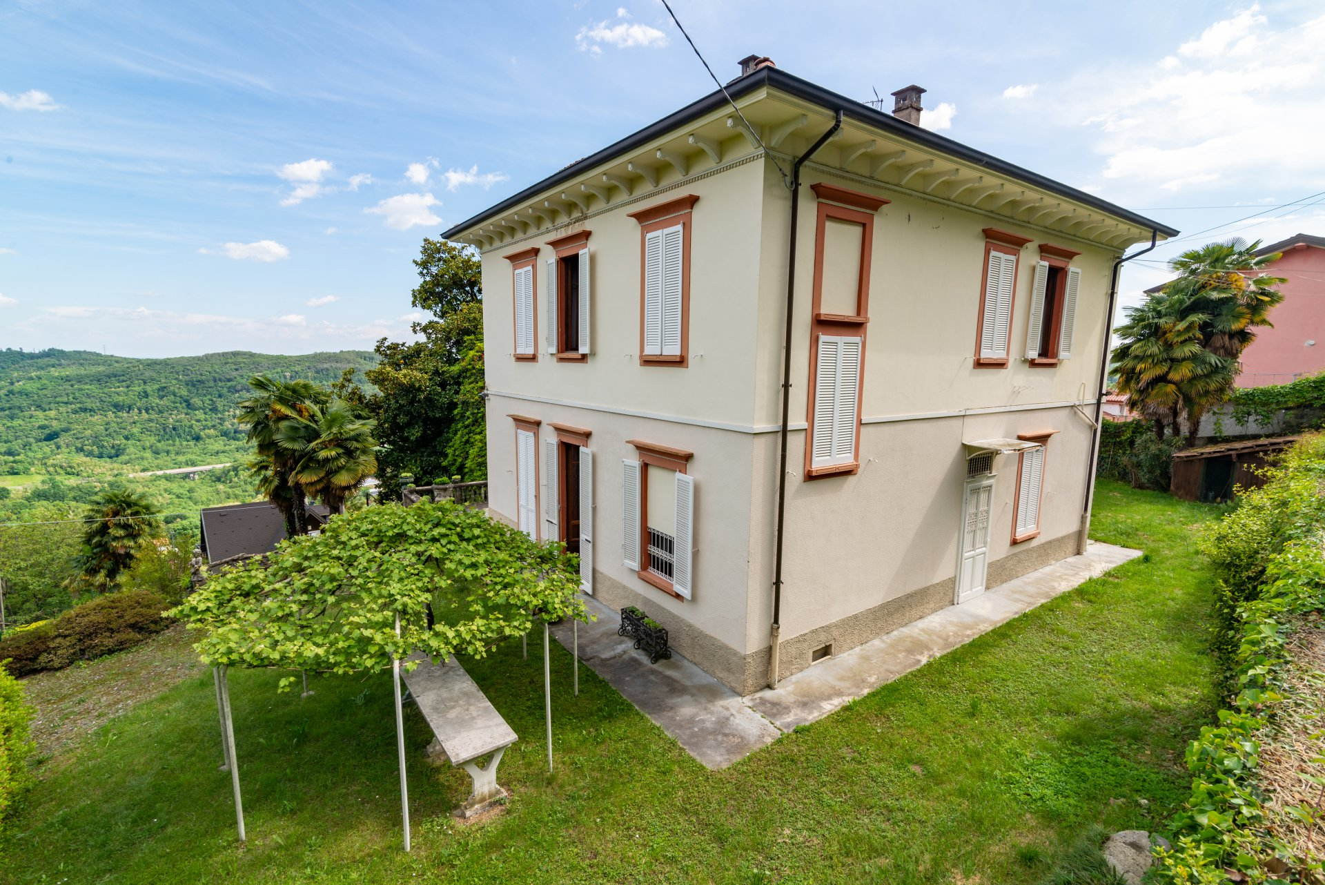 Historic property for sale in Lago Maggiore - top view