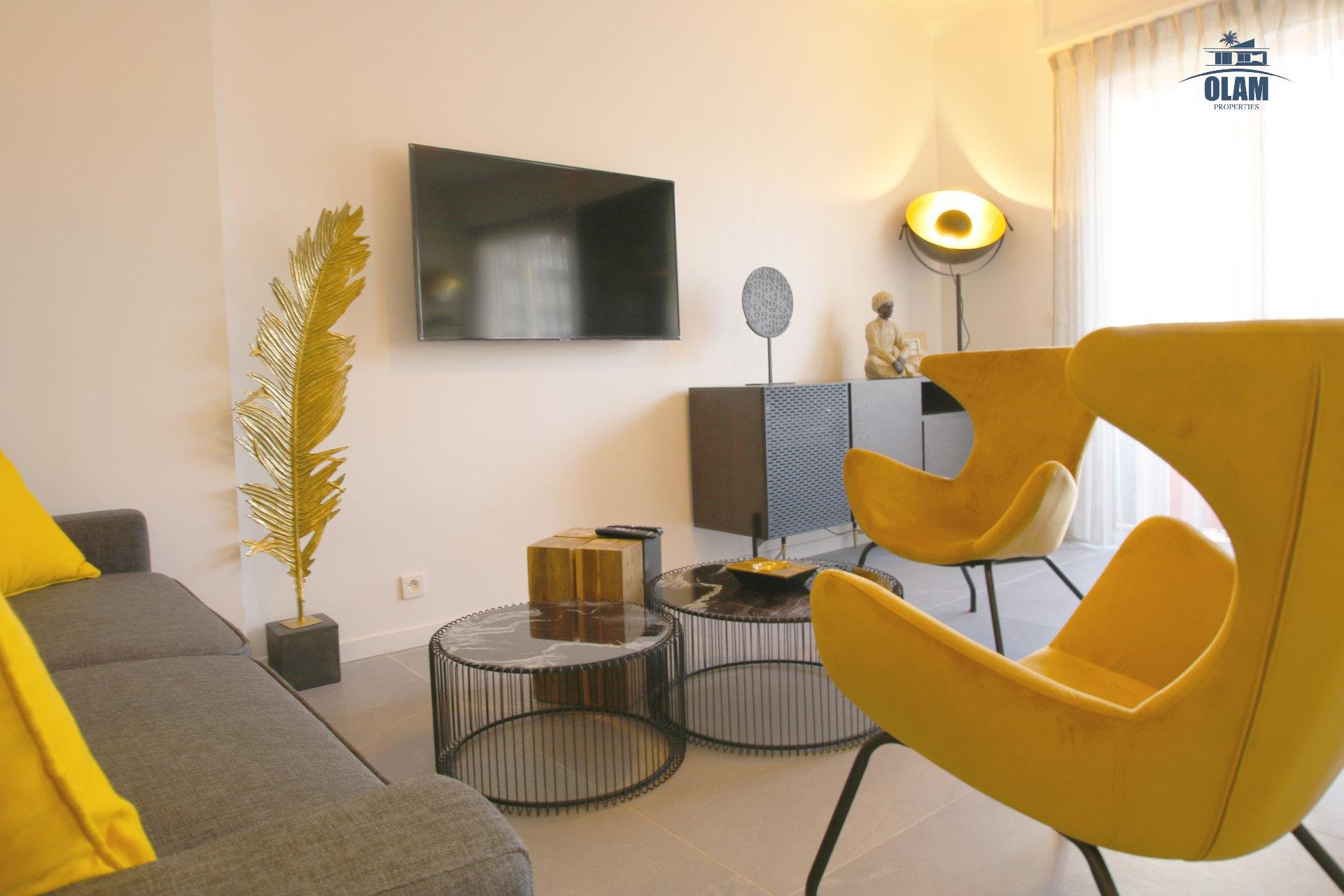 Seasonal rental, Cannes, Living room, Armenonville, Croisette, French Riviera