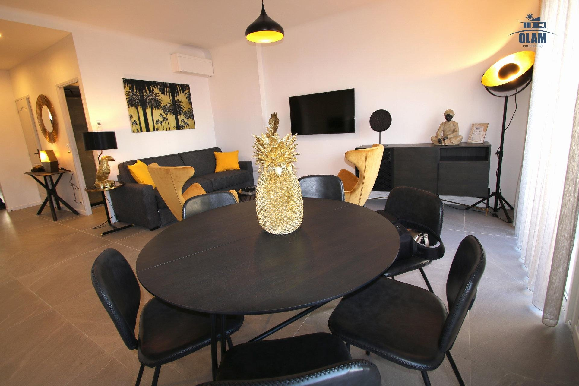 Eating area, Cannes, Seasonal rental, French Riviera, Armenonville