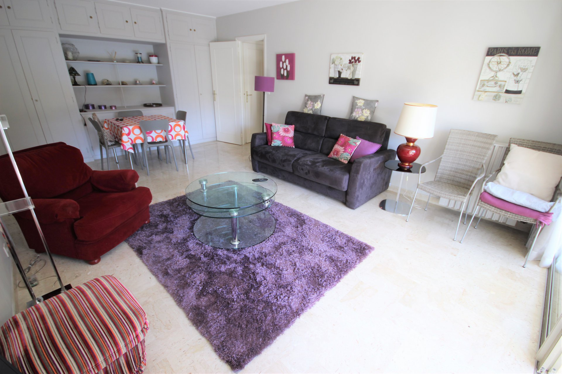 CANNES SALE 2 ROOMS IN RESIDENCE STANDING