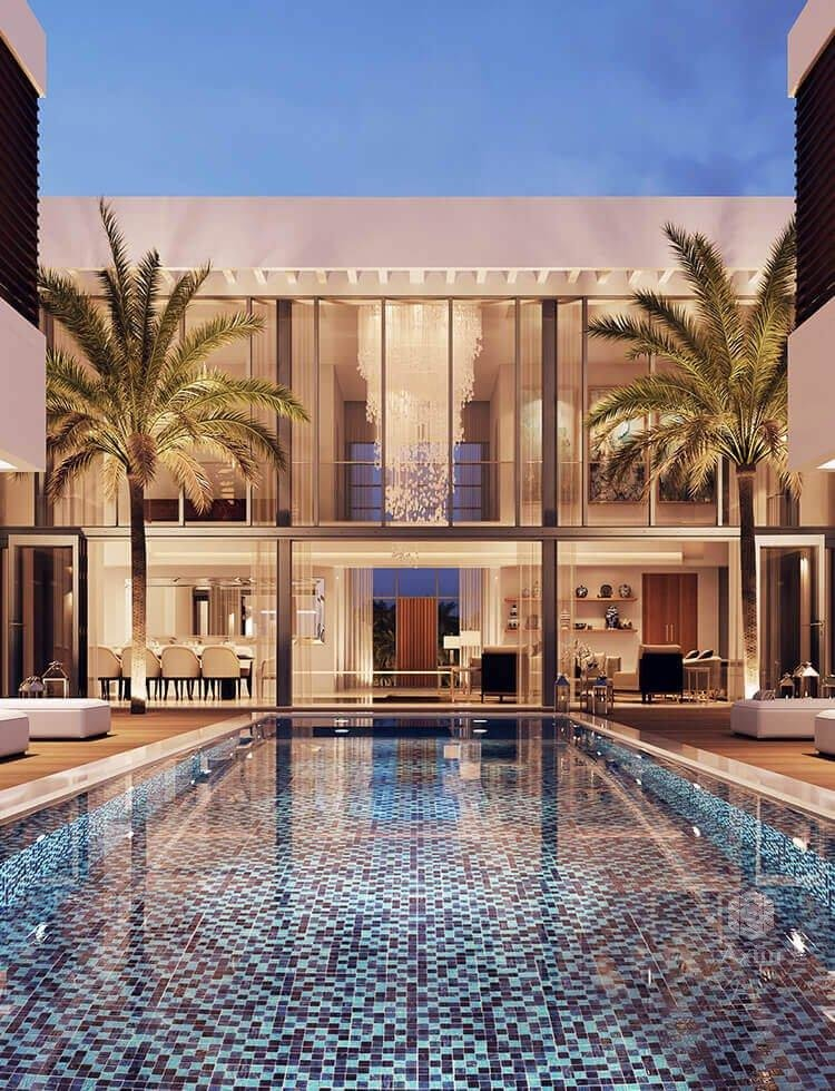 luxury villa on Dubai's new canal