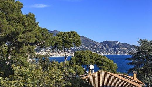 Вилла Roquebrune Cap Martin вид на море