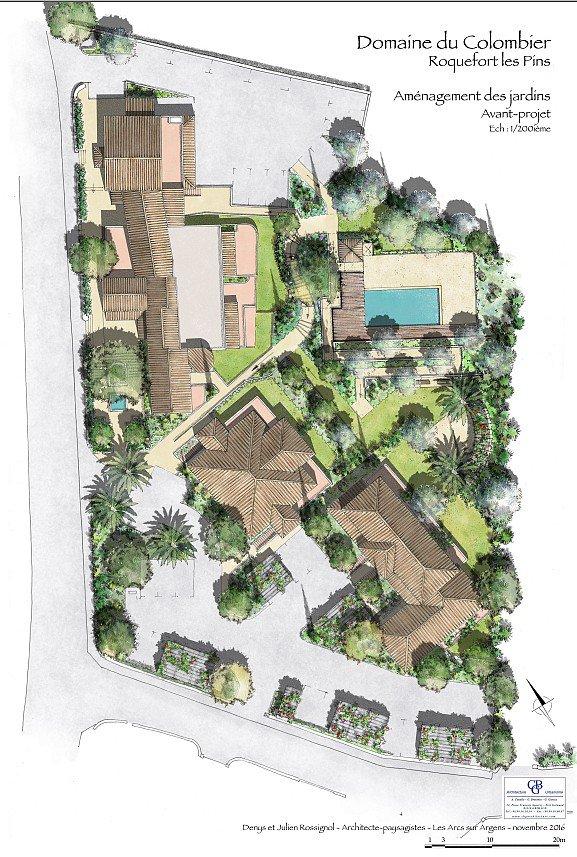 ROQUEFORT LES PINS - Attraktivt renoveringsprogram m/sv.basseng i naturskjønne omgivelser
