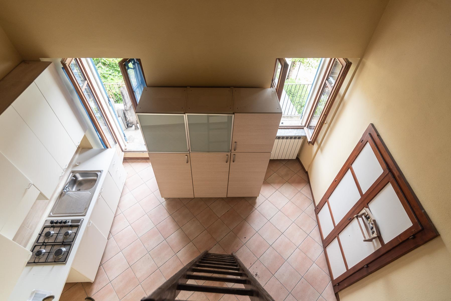 Apartment for sale in Pescatori island,Stresa- view from the loft