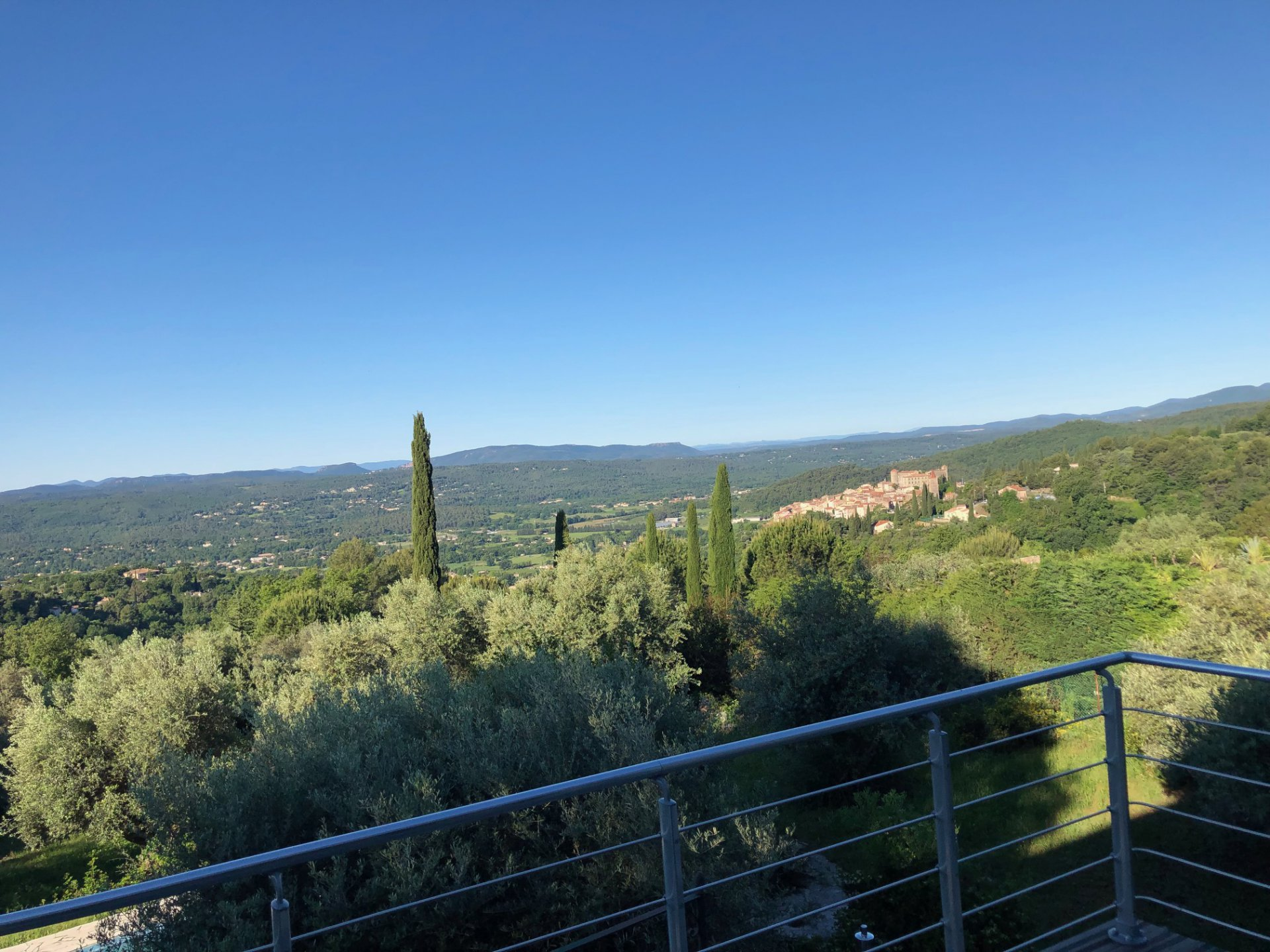 Stunning view on the villages of Callian and Montauroux