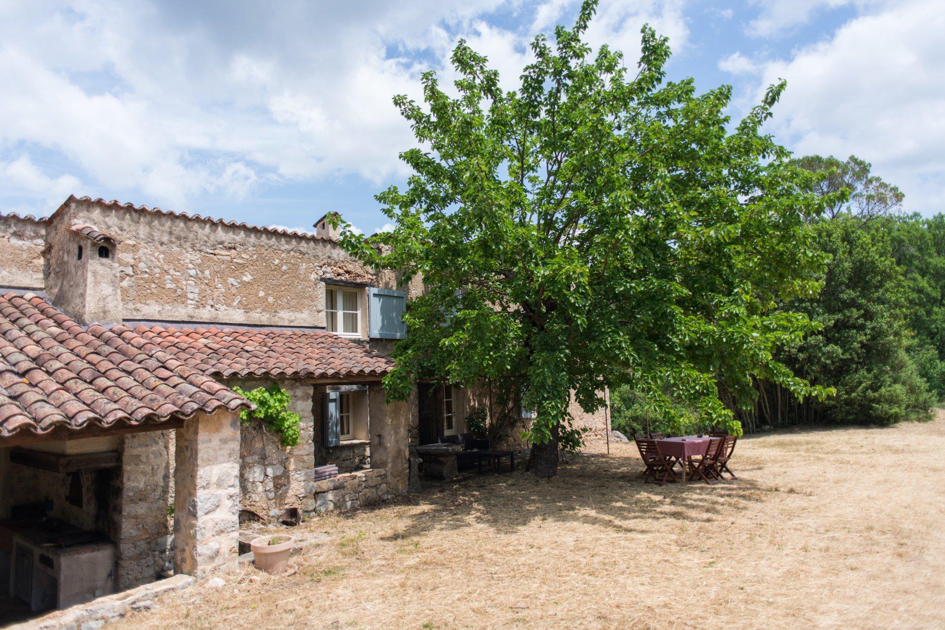 Seillans authentic stone built farmhouse on large plot 70000m²