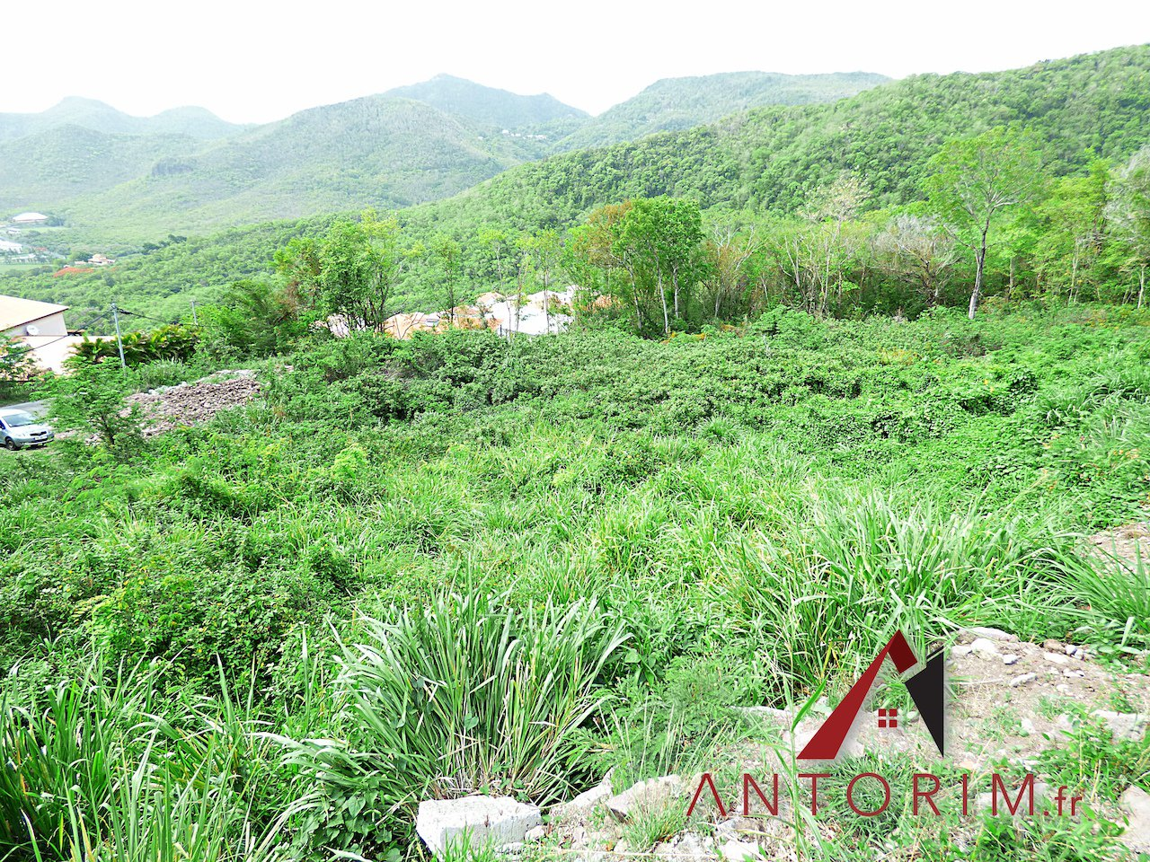 VENDU en EXCLUSIVITE par ANTORIM.FR - Anses d'Arlet - Beau Terrain Constructible - Vue Magnifique sur Grande Anse
