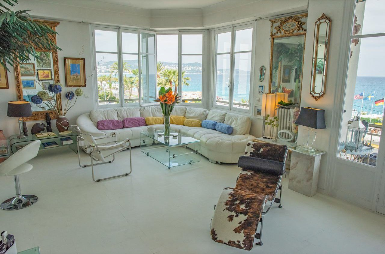 3:a med  havsutsikt och terrasser -  Nice Promenade des Anglais