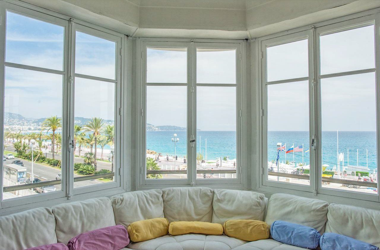 3P avec vue mer et terrasses - Nice Promenade des Anglais