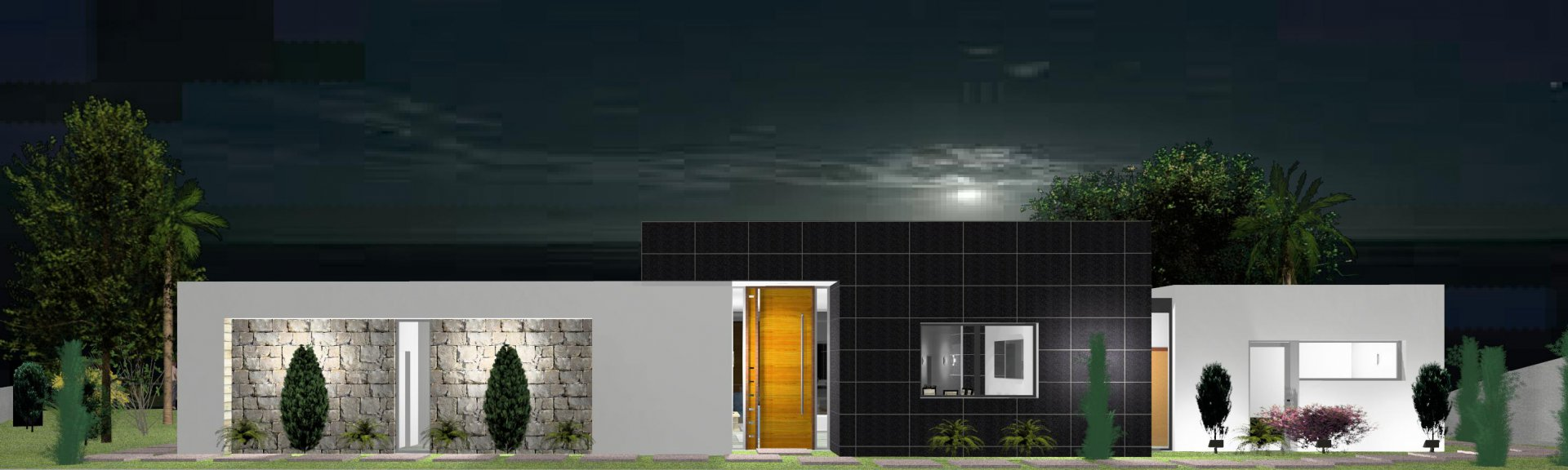 Modern Villa Under Construction with Pool and Panoramic Ocean View