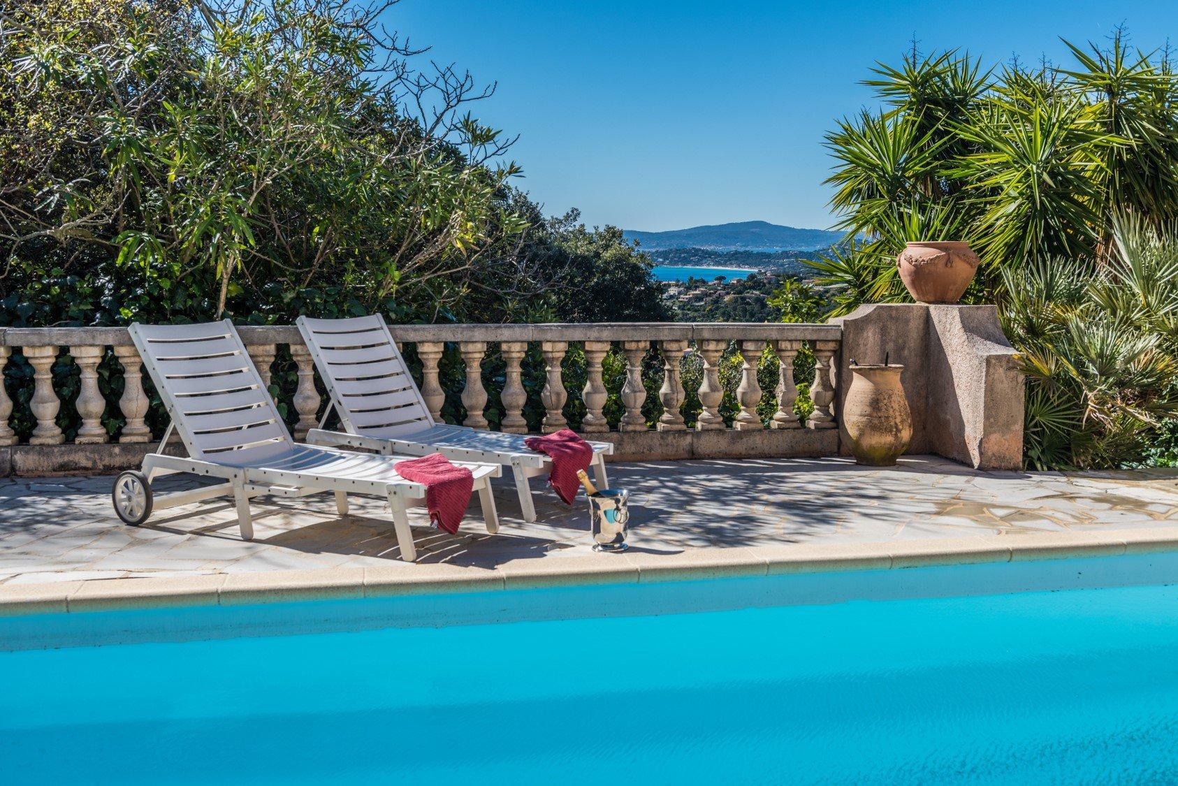 Maison provençale avec vue mer sur Saint-Tropez