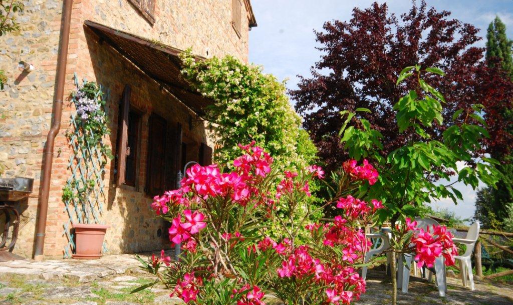 ITALIE, TOSCANE, SIENNE, CHIANTI, APPARTEMENT EN COLLINE DANS FERME RESTAUREE AVEC PISCINE, 4 PERSONNES, 2 CHAMBRES