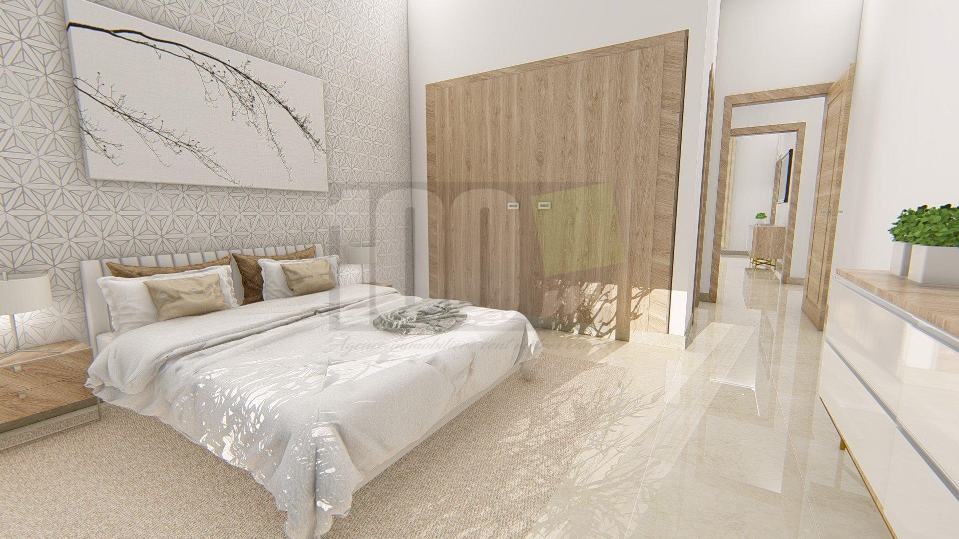 Vente appartement S+2 neuf de 120,8 m² à Ain Zaghouan