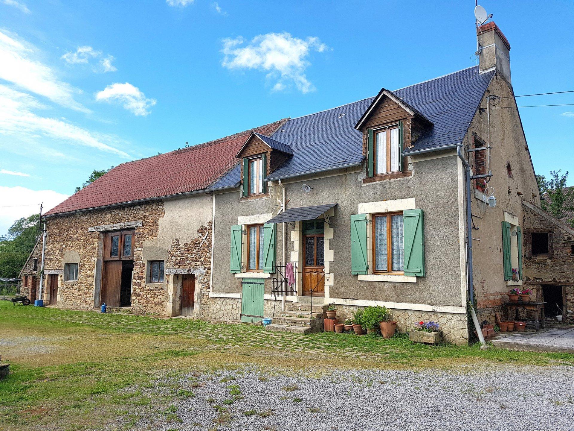 Dans le sud de La Brenne, Indre 36: maison avec terrain