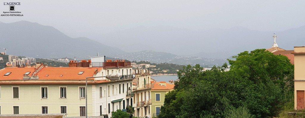 Studio centre-ville vue mer terrasse parking  à 200 m du cours Napoléon