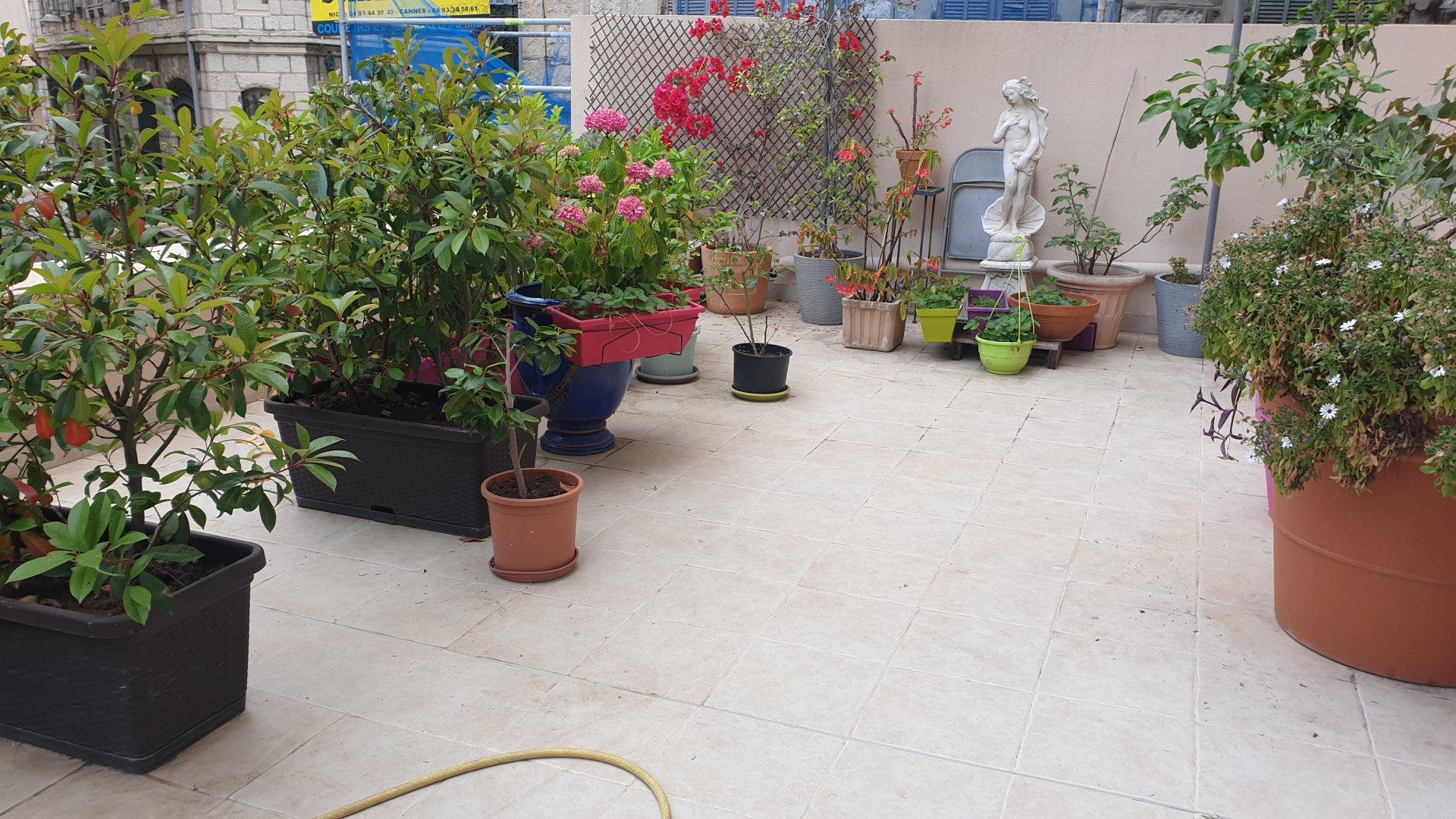 Coulée verte / tete carrée  :3 P 60 m2 , terrasse 40 m2