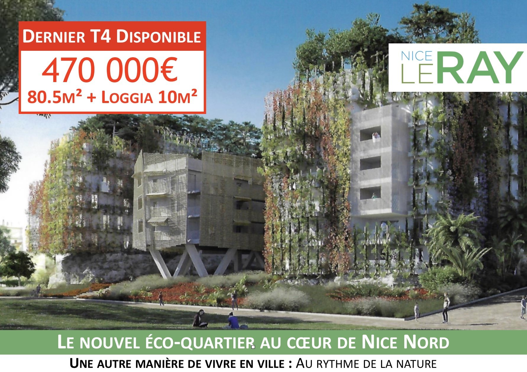 Bel appartement T4 - Nice Le Ray
