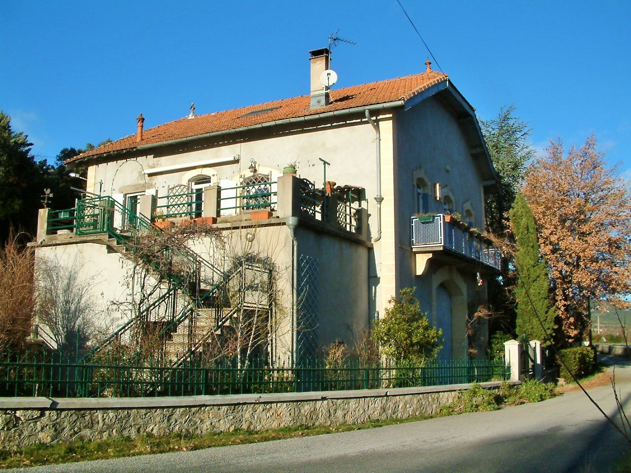 « House with old winery and wine press »