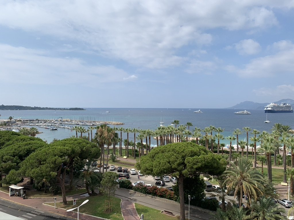 Sweeping view of the bay of Cannes