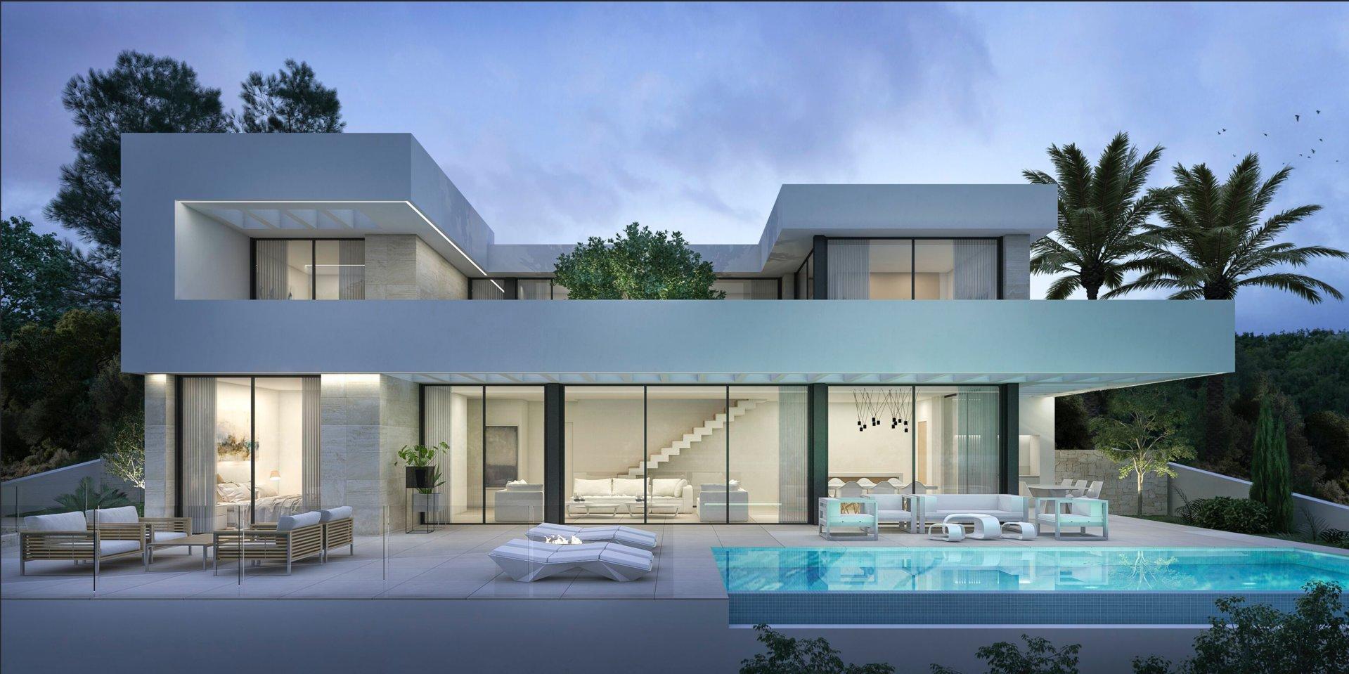 Moderne designvilla in Moraira