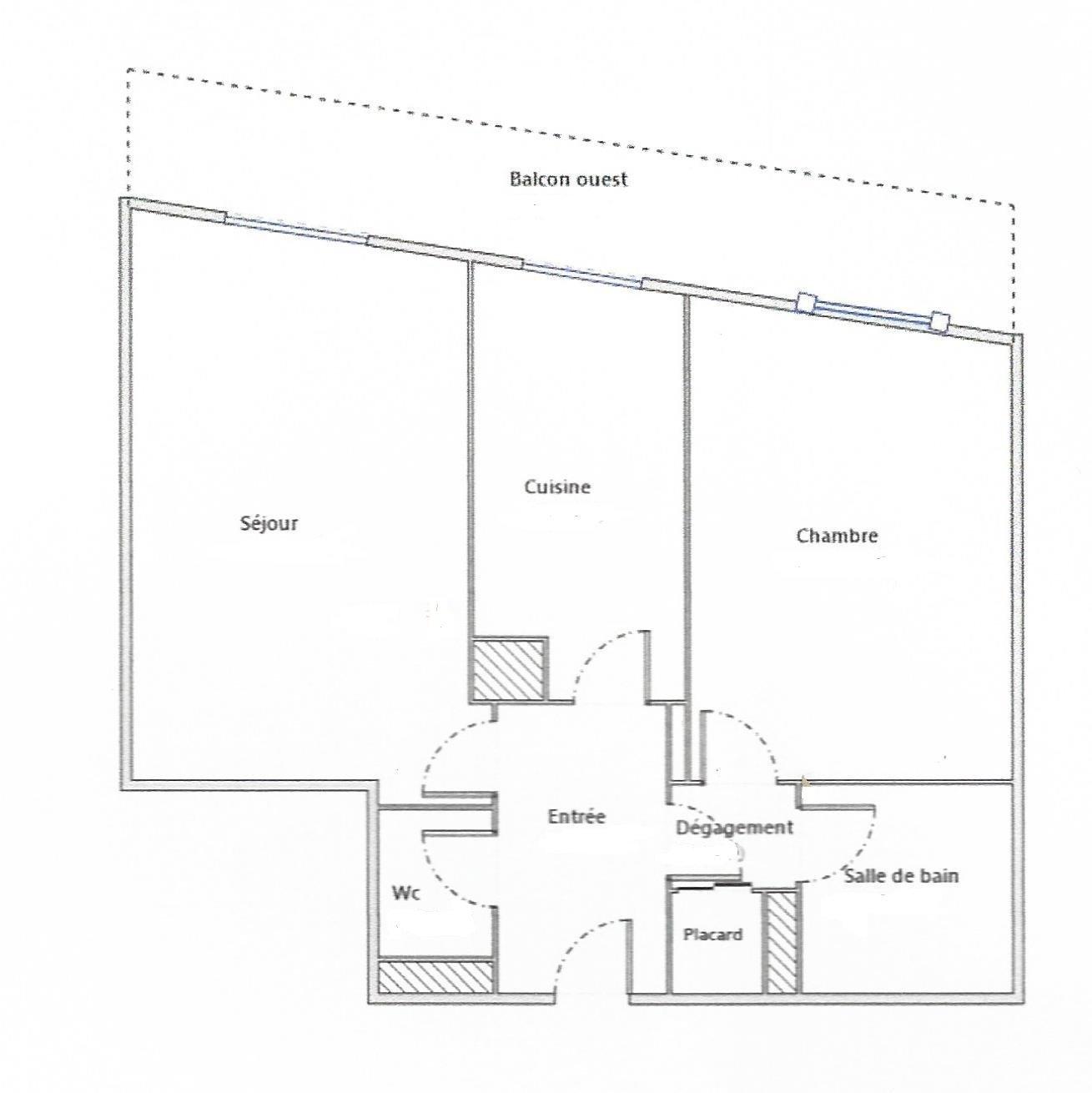 AV. MIRABEAU - STANDING - 2 PIECES 51m² - ÉTAGE ÉLEVÉ - TERRASSE 12m²