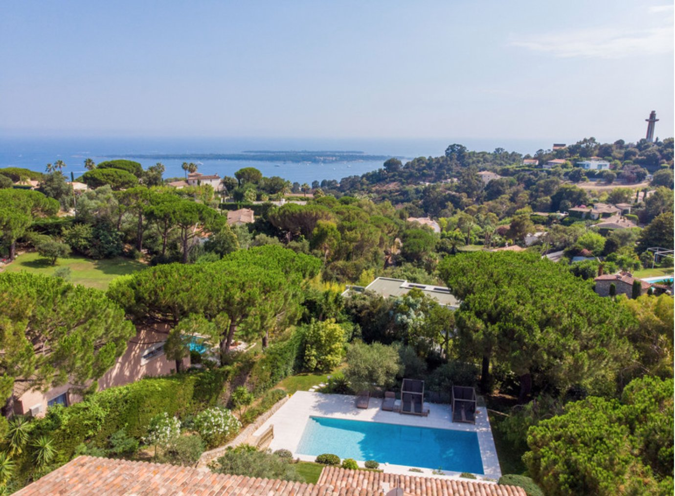 Rental CANNES CALIFORNIE - Beautiful property with seaview 5 bedroom