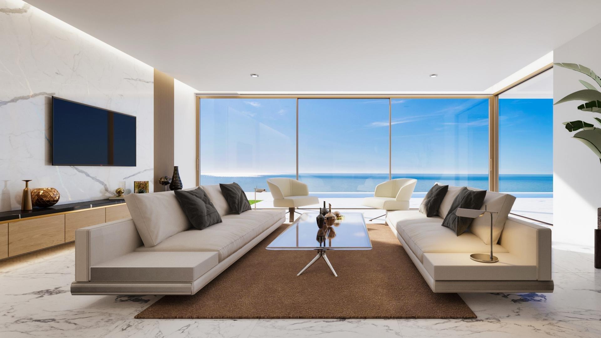 Penthouse de luxe avec vue panoramique sur la mer à Mascarat