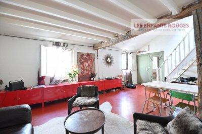 Paris 10ème - Appartement 2 pièces atypique en dernier étage