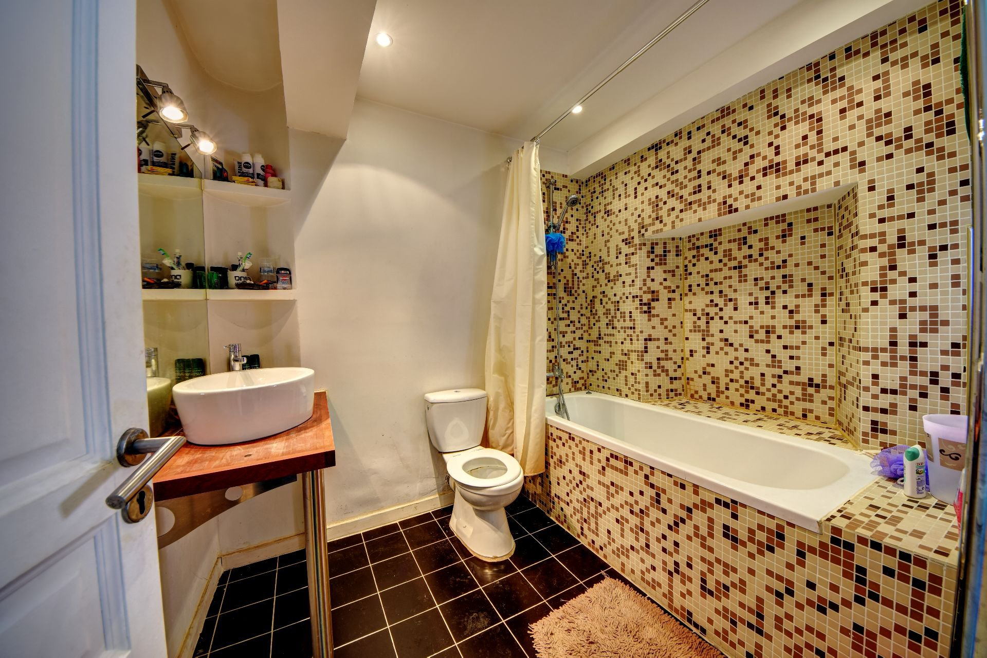 Bathroom of the renovated house medieval center, Aups, Var, Verdon, Provence