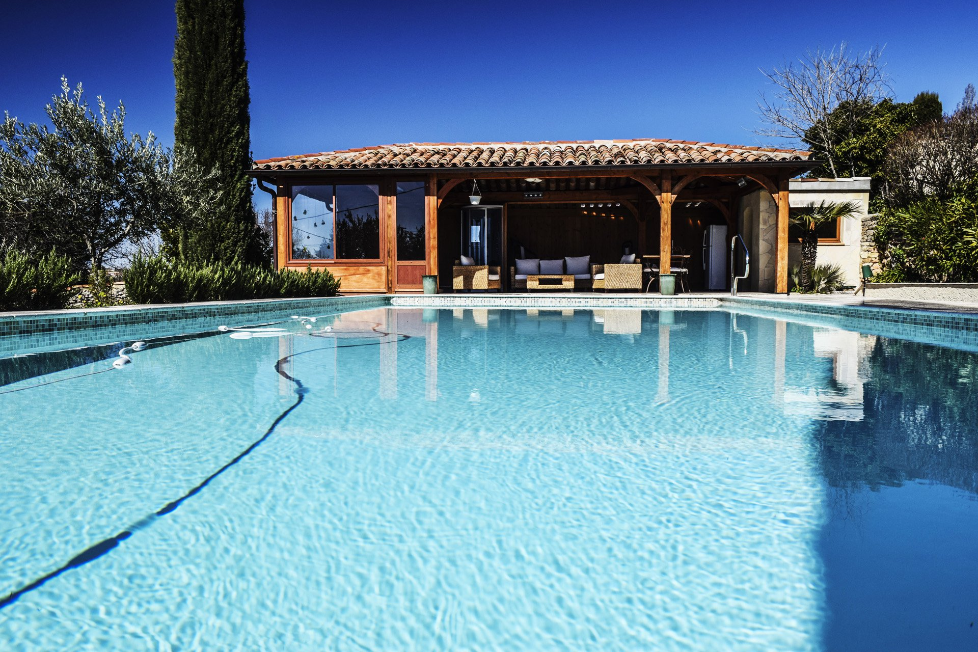 the pool with jacuzzi house 19th century mansion with pool renovated interior elevator, Aups, Var, Verdon, Provence