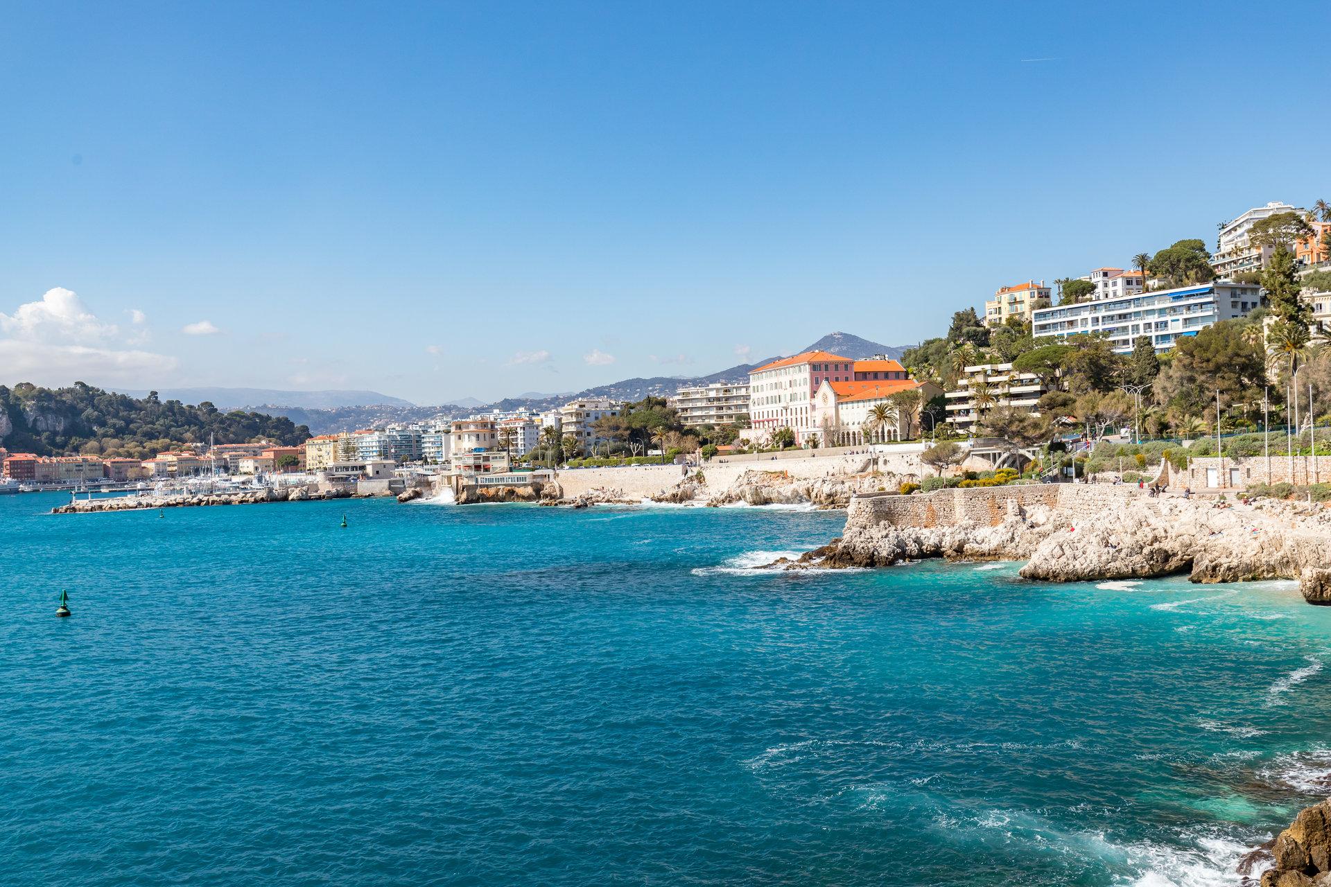 Nice Cap de Nice 2p vue mer et port