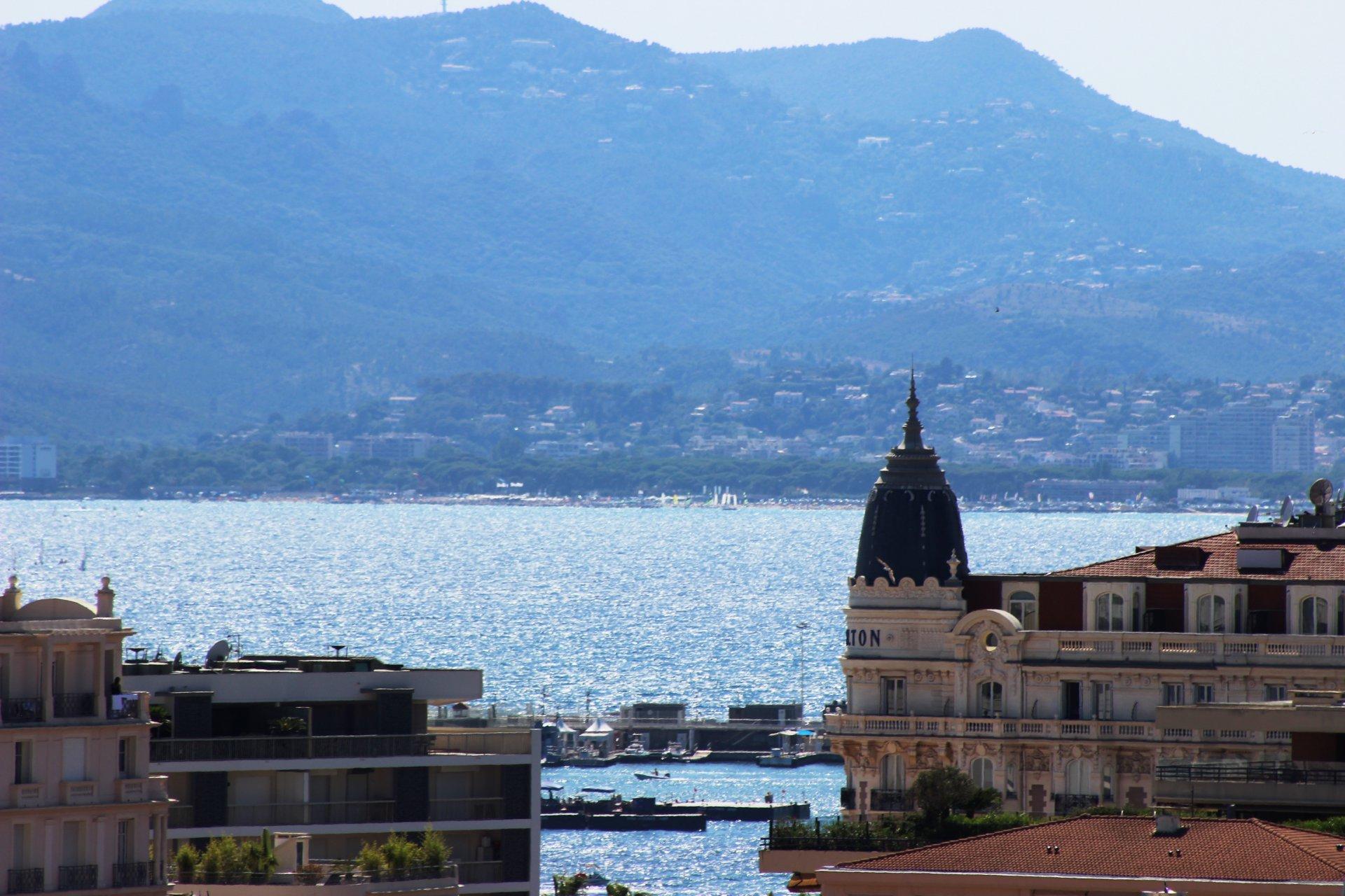 Cannes Basse Californie 2 pièces au dernier étage avec vue mer