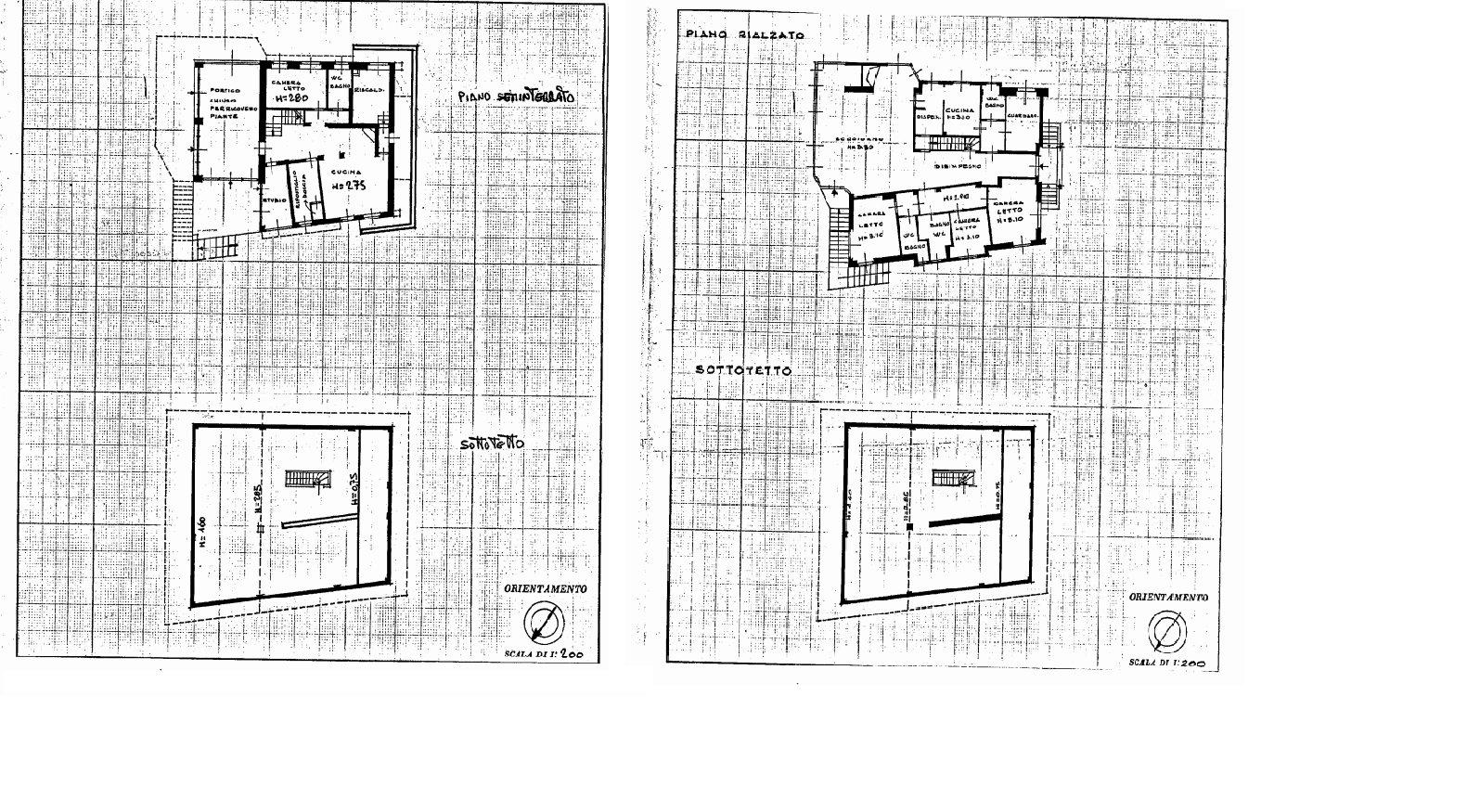 Villa signorile in vendita a Stresa con giardino - planimetria A