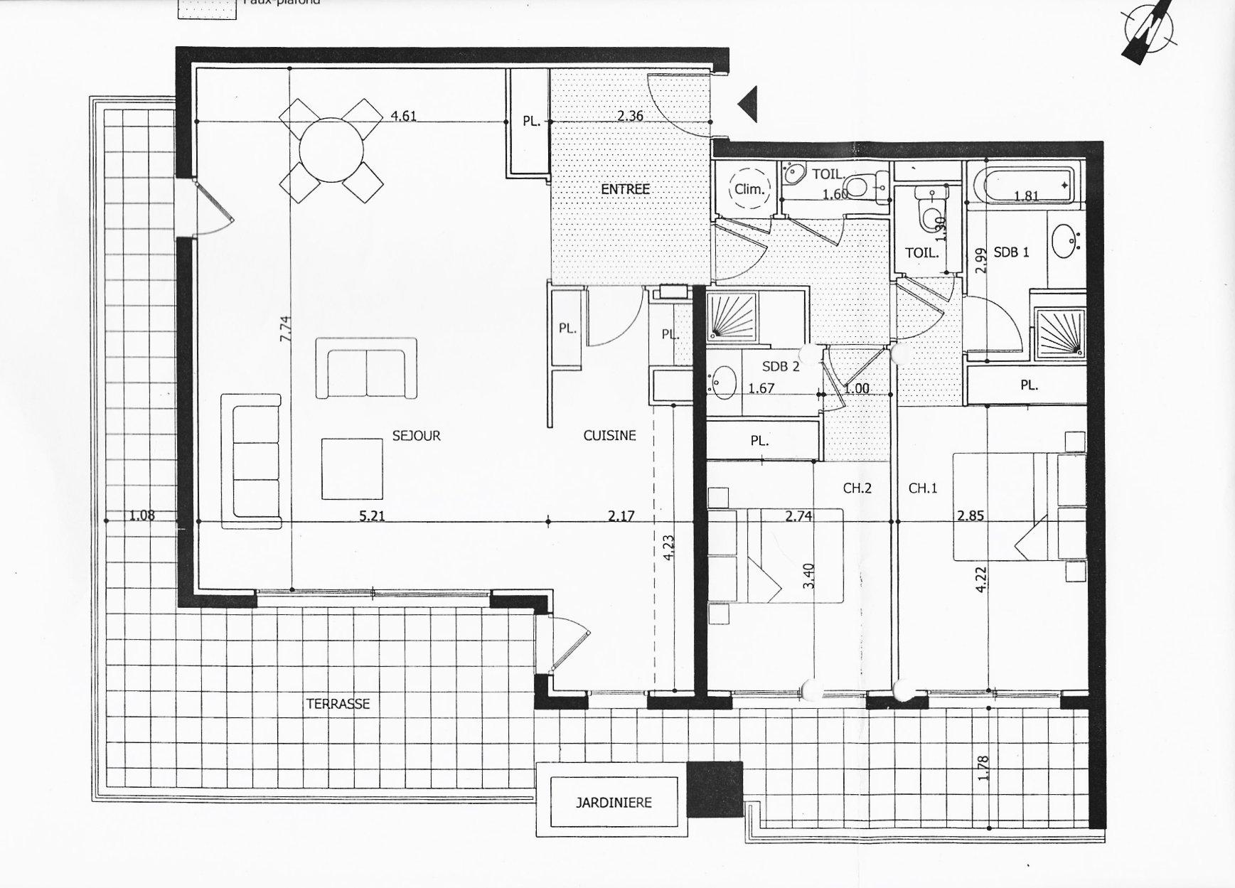 Mandelieu / Cannes – Luxueux appartement + 100 m2 + terrasses et garage